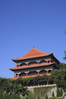 Free Chinese Temple Pagoda Royalty Free Stock Photos - 22550958