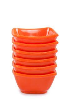 Free Orange Plastic Bowl Royalty Free Stock Image - 22550966