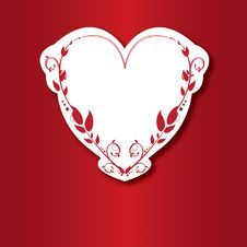 Free Valentine Card With Heart Royalty Free Stock Images - 22553019