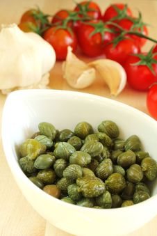 Pickled Capers Stock Images