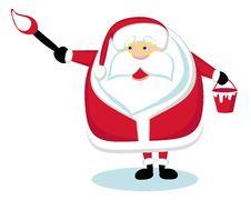 Free Santa Painting Royalty Free Stock Photography - 22554217