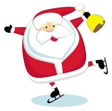 Free Santa  Skating Stock Image - 22554271