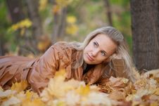 Free Girl On A Walk In The Autumn Park Royalty Free Stock Photo - 22554765