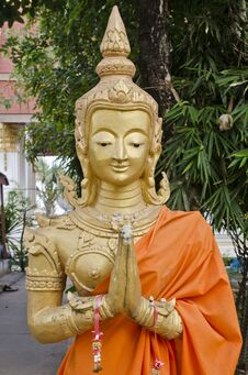 Free Buddha In Thatluang Temple Royalty Free Stock Photo - 22556075