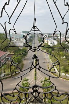 Free Top View Of Vientiane Capital From Patuxay Window, Stock Photography - 22556212