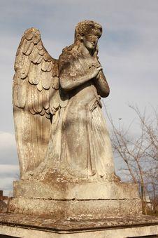 Figure Of A Praying Angel Stock Photo