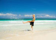 Free Woman On A White Sand Beach Royalty Free Stock Photo - 22558425