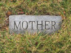 Mother Grave Marker Stock Images