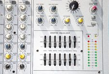 Power-Mixer With Graphic-Equalizer Royalty Free Stock Images