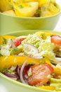 Free Salad And Boiled Potatoes Royalty Free Stock Images - 22563369