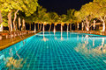 Free Night Views Of Swiming Pool Royalty Free Stock Photography - 22569867