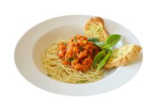 Free Pasta With Tomato Sauce Stock Photos - 22560253