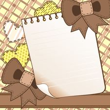 Free Brown Scrapbook Page Stock Image - 22560771
