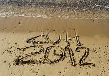 Free 2012 Year On The Beach Of Eilat, Israel Royalty Free Stock Photos - 22561628
