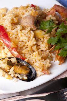 Free Paella Rice Royalty Free Stock Photos - 22561678