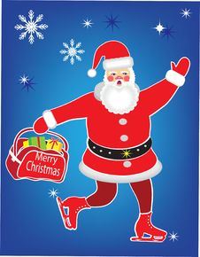 Free MERRY CHRISTMAS.SANTA CLAUS. Stock Images - 22562424