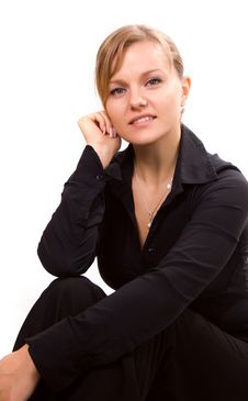 Portrait Of A Woman Smiling Royalty Free Stock Photos