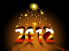 Free Artistic Concept Vector For 2012 Royalty Free Stock Photos - 22563038