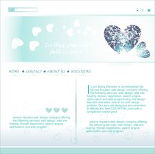 Valentine Day Concept Layout Stock Photos