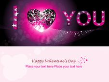 Valentine Day Wallpaper & Greeting Card Royalty Free Stock Photography