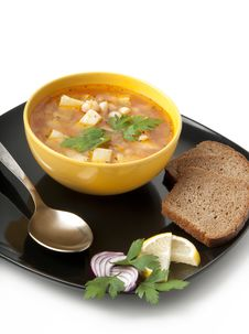 Free Soup With Beans Royalty Free Stock Photos - 22563268