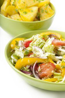 Free Salad And Boiled Potatoes Stock Image - 22563351