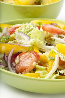 Free Salad And Boiled Potatoes Stock Photography - 22563362