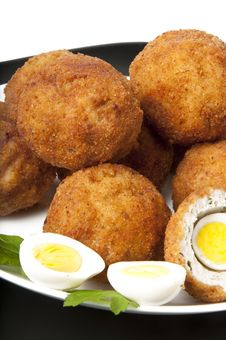 Free Meatballs With Quail Eggs Royalty Free Stock Image - 22563386