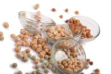 Chickpea And Dry Peas Royalty Free Stock Images