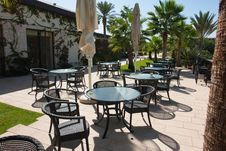 Outdoors Cafe In A Resort Hotel Stock Photography