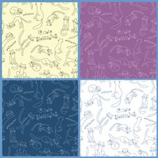 Free Collection Of Vector Seamless Patterns Royalty Free Stock Images - 22568799