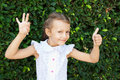 Free A Girl Shows A Signs Of Excellent And OK Stock Images - 22576064