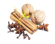 Free Cinnamon, Anise,  Walnuts And Cloves Royalty Free Stock Image - 22570296