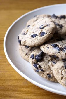 Free Chocolate Chip Cookies Royalty Free Stock Photography - 22571267