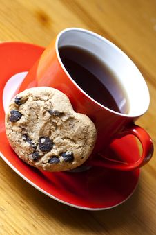 Free Cap Of Tea And Cookies Stock Photography - 22571292