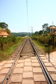 Free Empty Railway Tracks Through Scenic India Stock Photos - 22571743