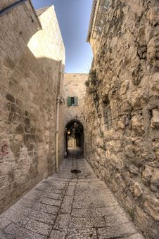 Free Old Jerusalem Streets Royalty Free Stock Images - 22572099