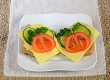 Free Breakfast Sandwiches Ready To Eat Royalty Free Stock Photos - 22572288