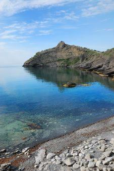 Free Pointed Cape Kapchik On The Crimean Coast. Stock Image - 22573081