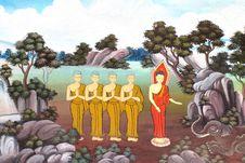 Free Buddha, Thai Style Painting Stock Photos - 22573923