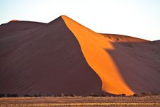 Dune In Namib Desert, Namibia Stock Photo