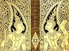 Traditional Thai Style Painting Royalty Free Stock Images