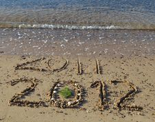 Free 2012 Year Is Coming In The Beach Of Eilat, Israel Stock Photos - 22575913