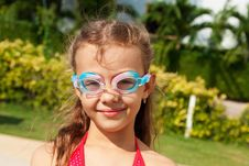 Free Girl In Swimming Glasses Royalty Free Stock Photo - 22576165