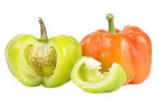 Free Red And Cut Green Bell Peppers Royalty Free Stock Images - 22576999