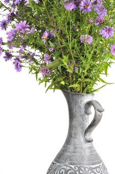Free Bouquet Of Pink Aster Flowers In Jug Stock Photography - 22577012