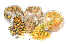 Free Jars With Cereals (Lentils, Rice, Split Peas) Stock Image - 22577121