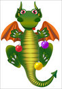 Free Dragon With Christmas Ball Royalty Free Stock Image - 22580056