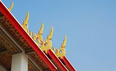 Unique Rooftop Of Thailand Temple Wat Pho Stock Photography