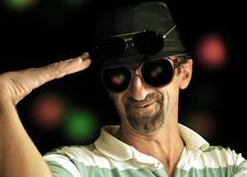 Free Older Disco Guy Royalty Free Stock Images - 22582149